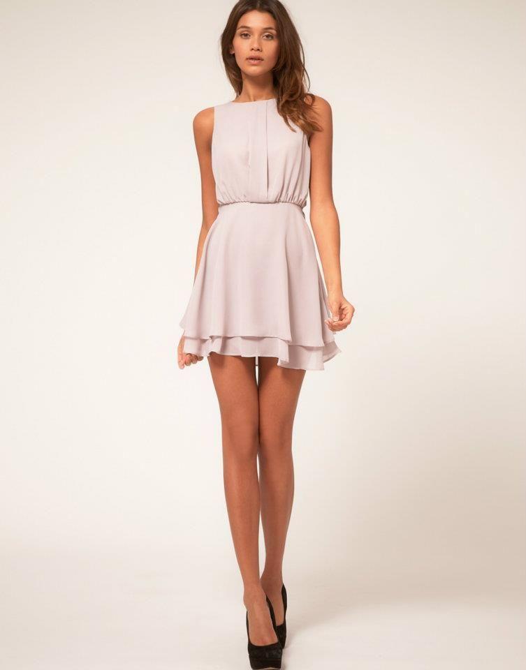 cute light pink dress with black heels...love it but wish it was a ...