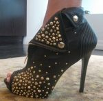 """Gold stud booties from """"Basketball Wives"""" Evelyn Lozada's online store  $1285!!!"""
