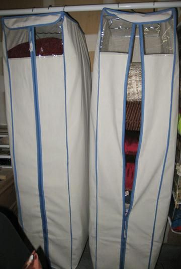 Use A Garment Bag For Pillow Storage Keeps Them