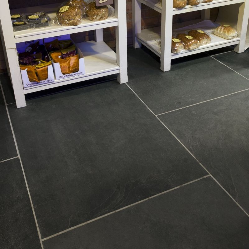 Mrs Stone Store | Brazilian Black Natural Riven Large Slate Flag ...