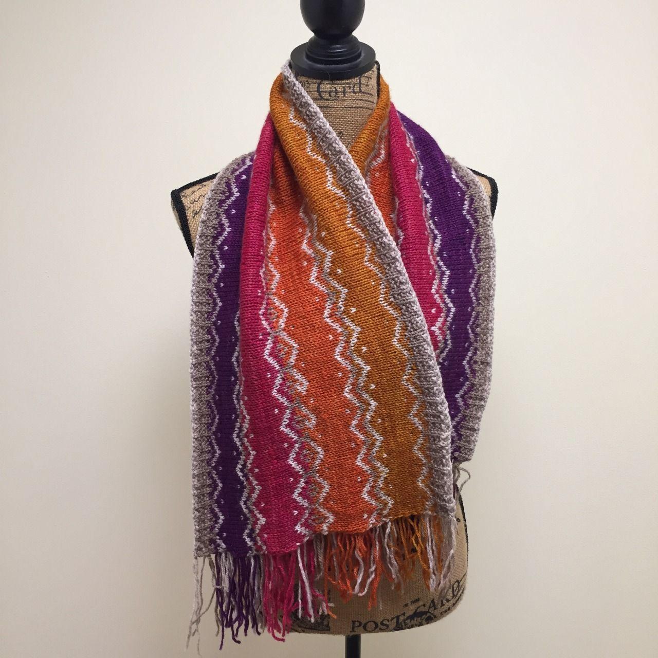 nineteenhundreddesigns: Osebury Scarf Finished... - beautiful knitting