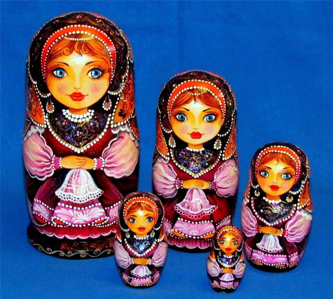 "Signed Russian Nesting Doll ""Kniagna"" Princess Matryoshka ..."