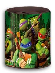 Hucha metálica de las Tortugas Ninja...: http://www.pequenosgigantes.es/pequenosgigantes/2528116/hucha-metalica-tortugas-ninja.html