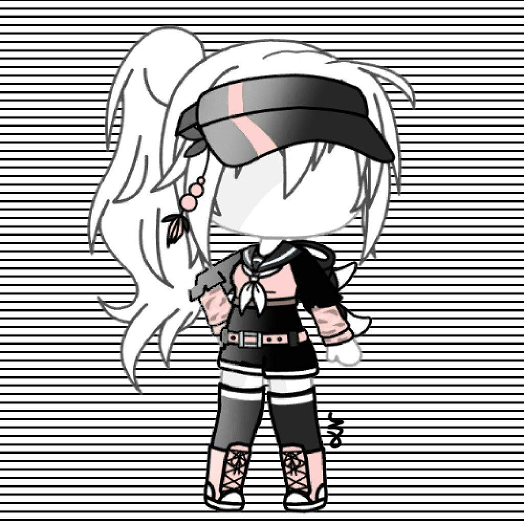 Gachalife Gacha Gachalifeuotfit Outfit Pink Black White