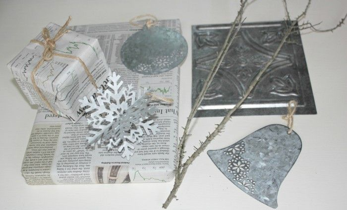 metal and newspaper holiday ideas