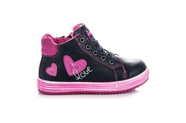 American Club Wiazane Buty Dla Dziewczynki Niebieskie Shoes Sneakers Fashion