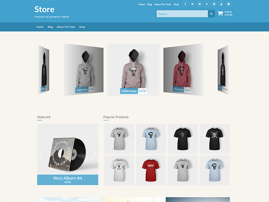 Store - Free Responsive eCommerce WordPress Themes - Freebies