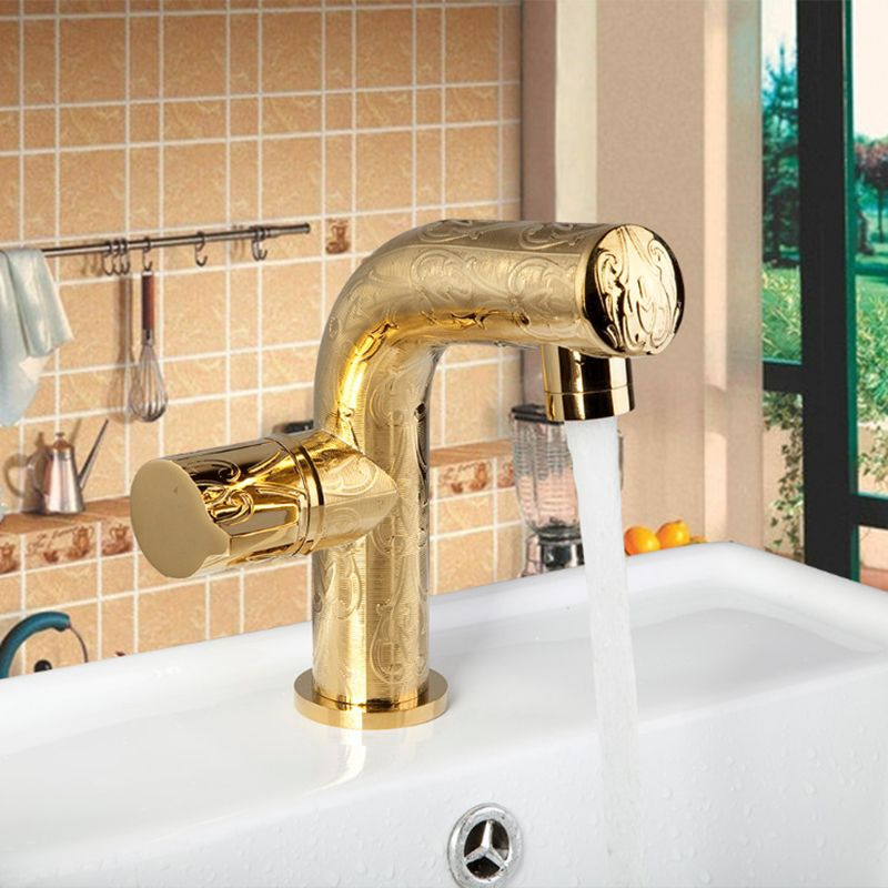 high end kitchen Bathroom faucets Single Handle Deck Mounted Golden ...