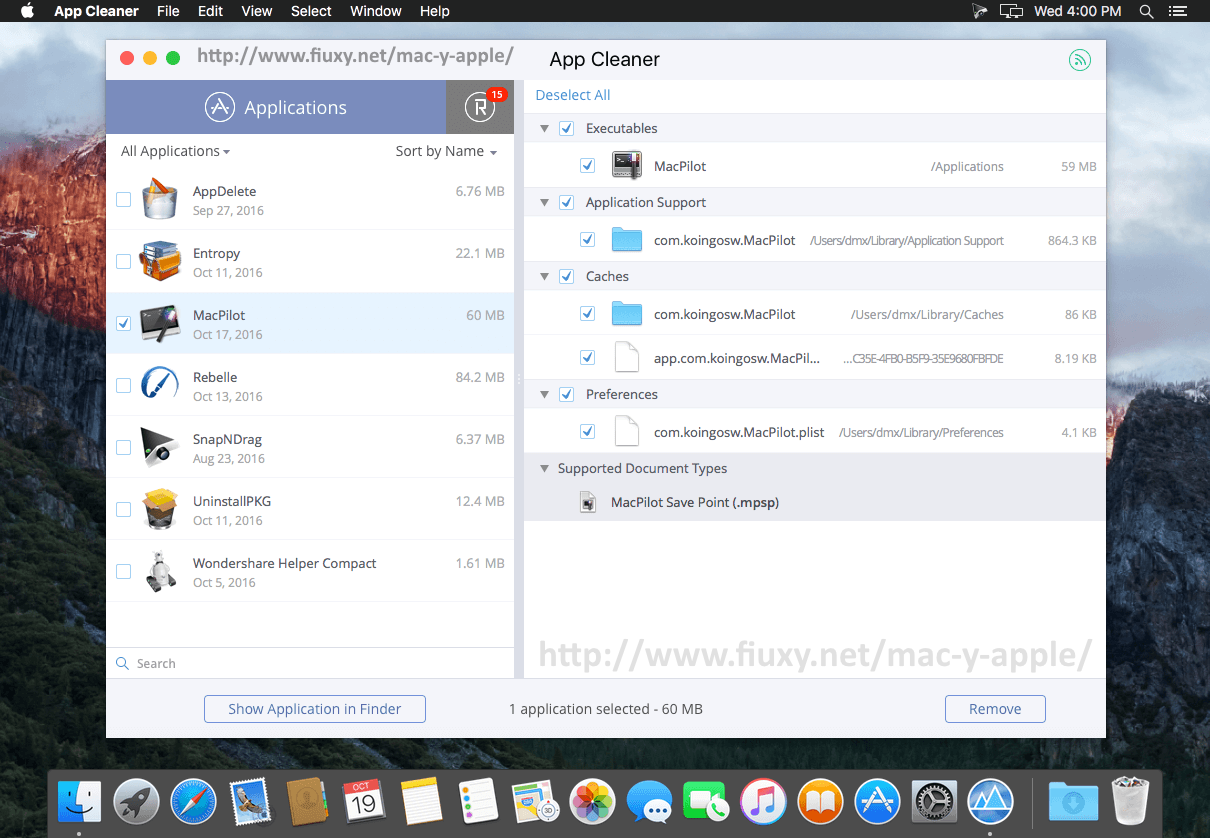 App Cleaner & Uninstaller Pro 4 7 - Preview and remove