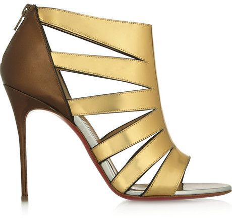 7fed2bf847a3 Christian Louboutin Beautyk 100 cutout metallic patent-leather sandals on  shopstyle.com