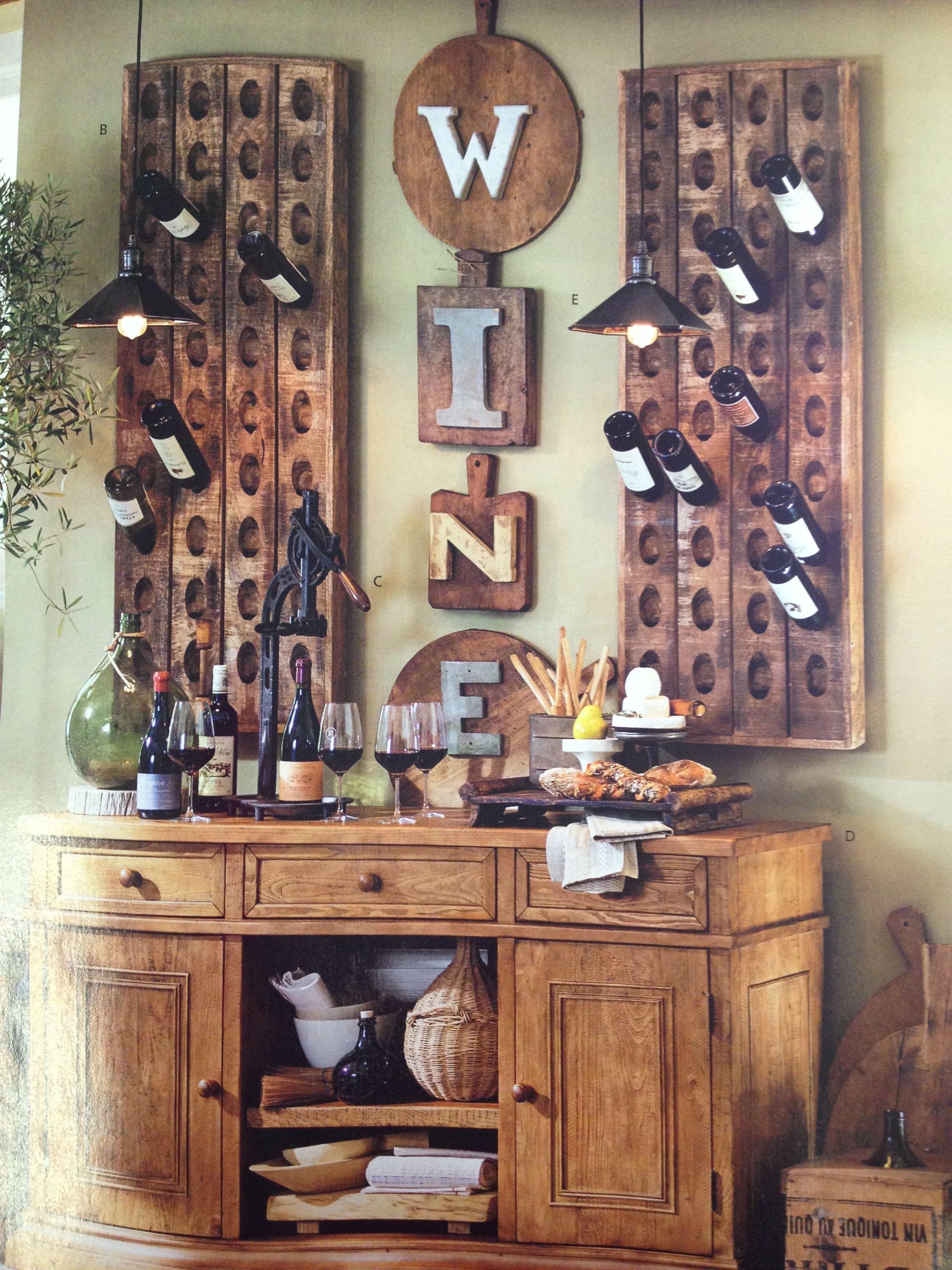 Pottery barn wine rack pendant lighting design decor for Pottery barn wine rack wood