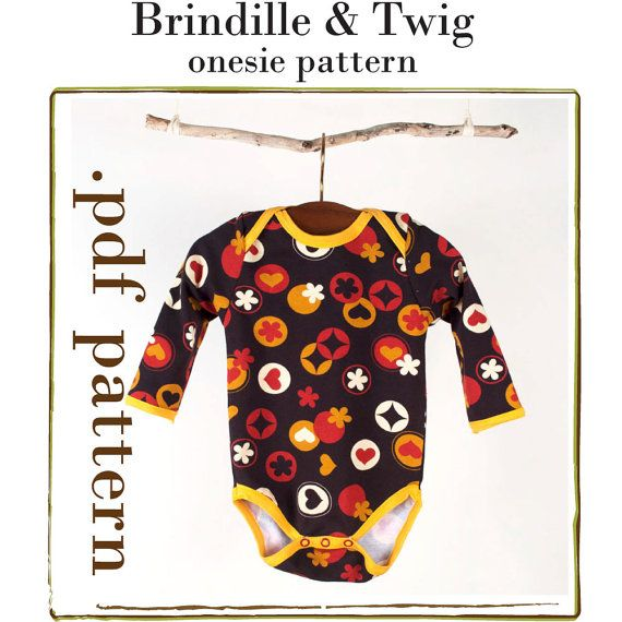 Baby sewing PATTERN onesie .pdf download sizes... 0-3, 3-6, 6-9, 9 ...