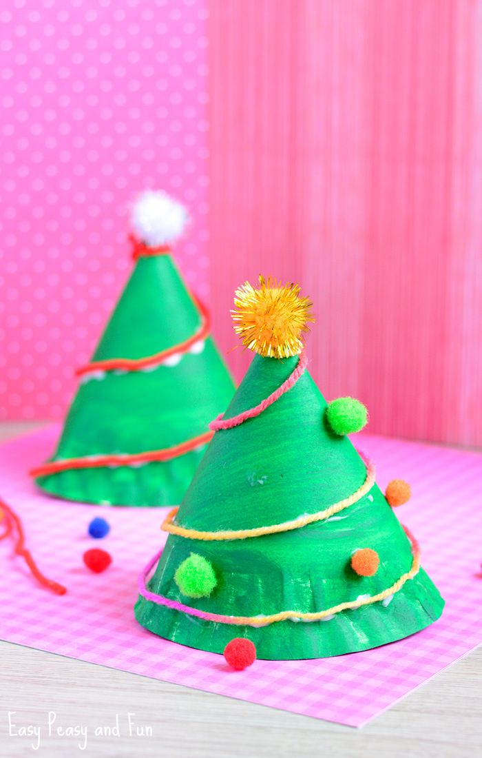 Paper Plate Christmas Tree Craft Easy Peasy And Fun Christmas Tree Crafts Christmas Crafts For Kids Easy Christmas Crafts