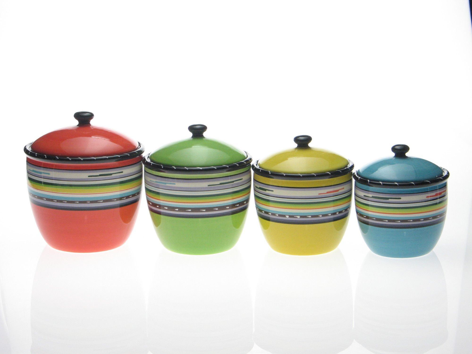 Santa Fe By Nancy Green 4 Piece Canister Set