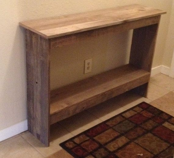 Wooden Sofa Table on Etsy, $125.00