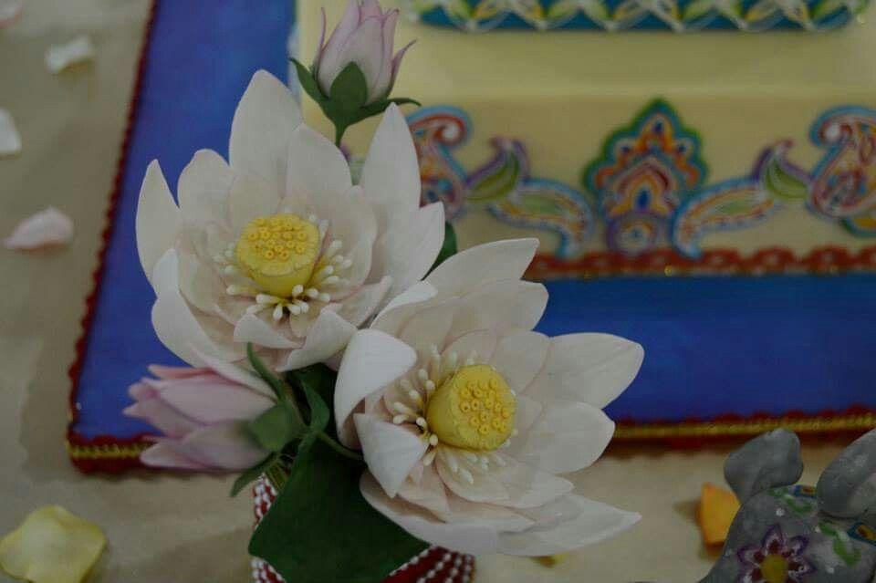 Gum Paste Lotus Flowers