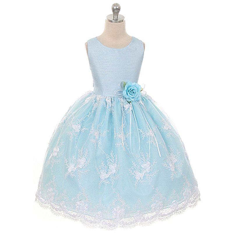 Dresses 51581: Blue Flower Girl Dresses Bridesmaid Wedding Formal ...