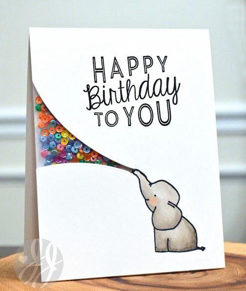 HANDMADE PERSONALISED 1ST BIRTHDAY IN HEAVEN CARD ELEPHANT 1ST BIRTHDAY