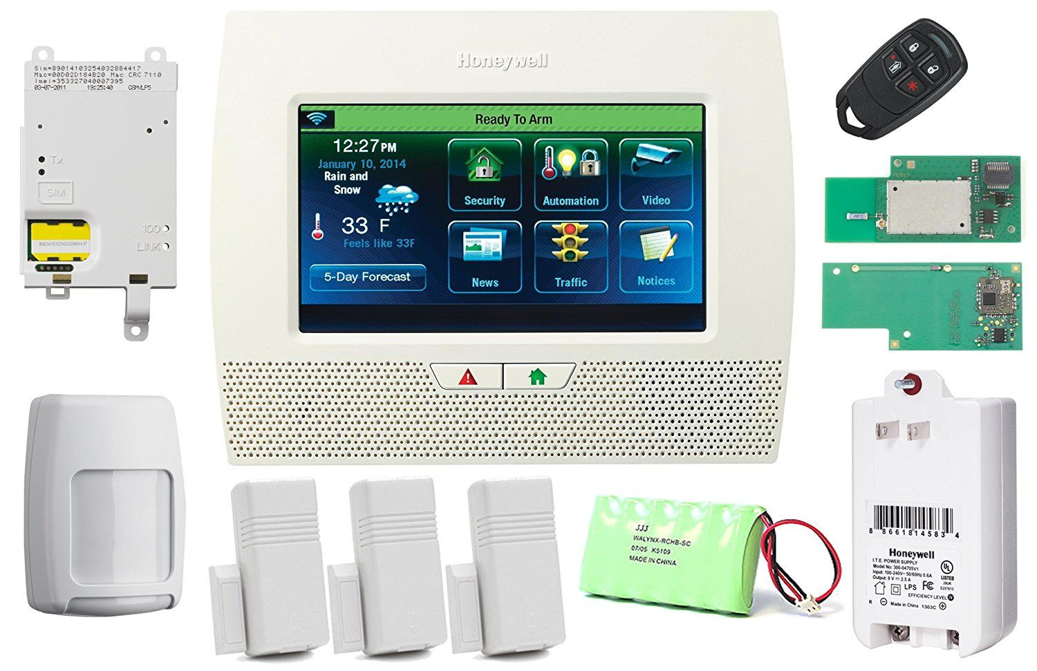 Honeywell Wireless Lynx Touch L7000 Home Automation Security Alarm Kit With Wifi Zwave And Wireless Home Security Systems Wireless Home Security Home Security