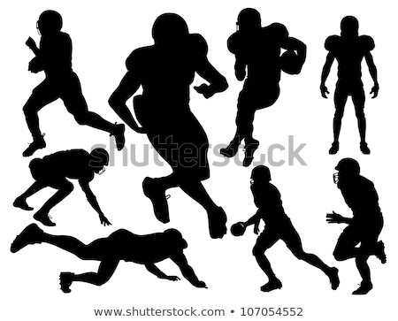 Vector American Football Players Silhouette American Football Players Football Players American Football