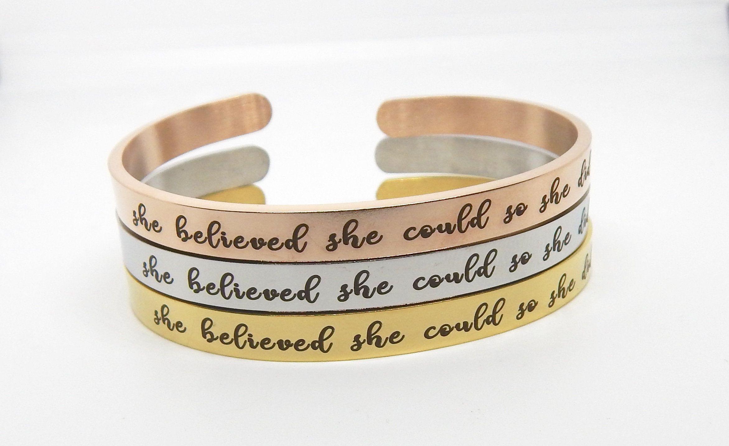 Cuff Bracelet She Believed Could
