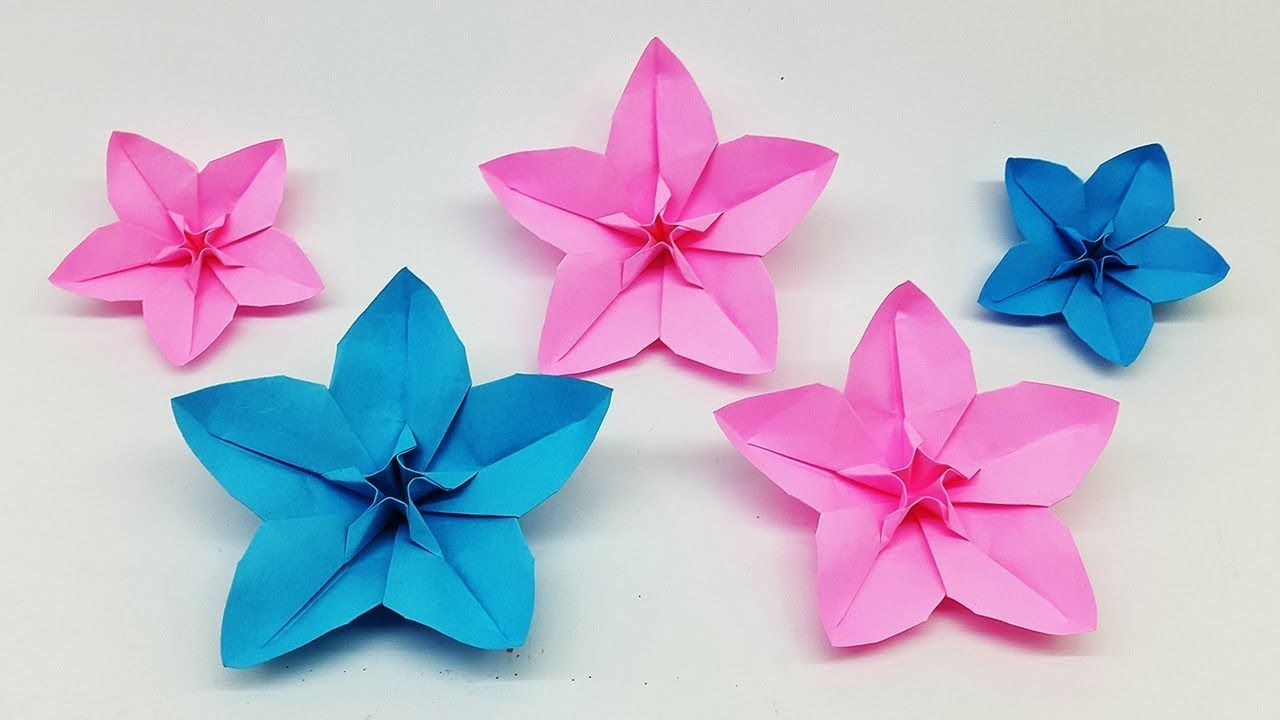 How to make origami paper flowers | 720x1280