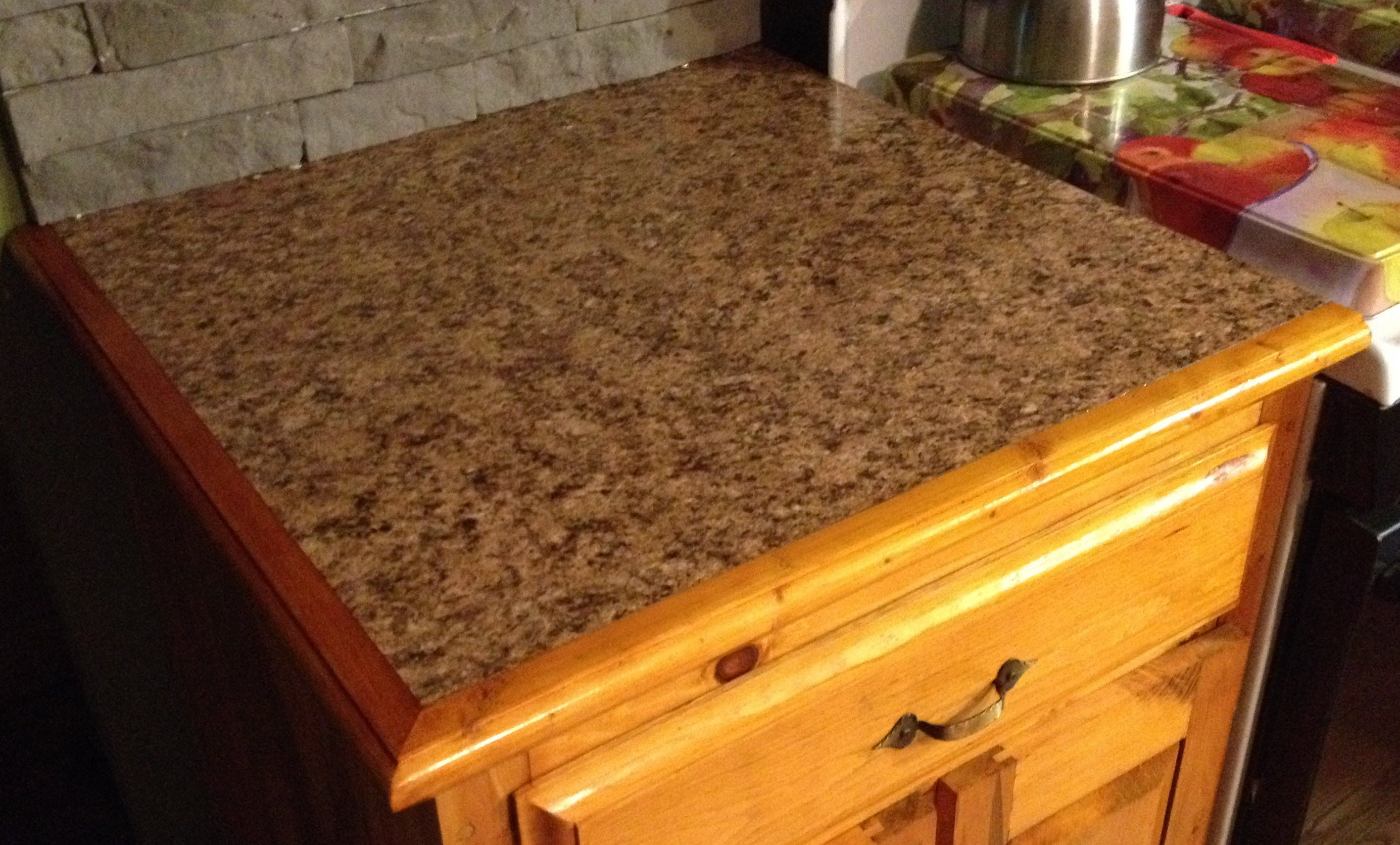 Countertop With Custom Wooden Edges Wood Working To Do