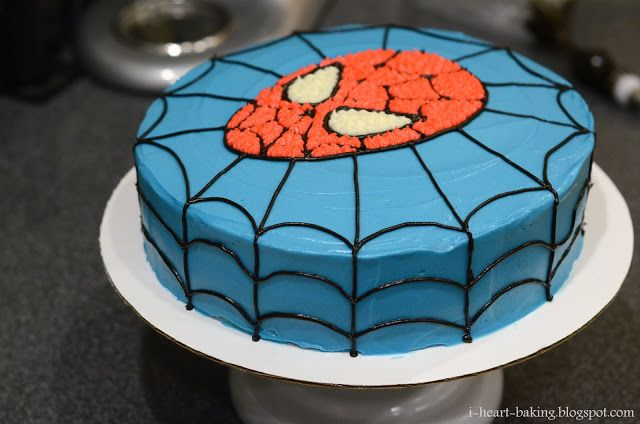 I Heart Baking Spiderman Birthday Cake With Images Spiderman