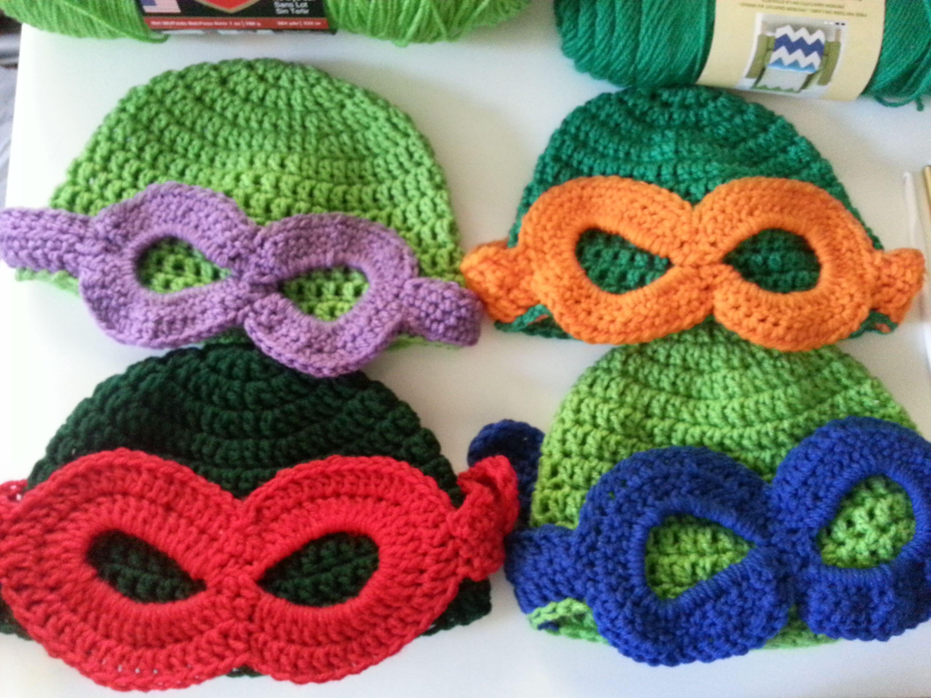 Teenage Mutant Ninja Turtle Beanie   Gorros crochet, Gorros y Ropita ...