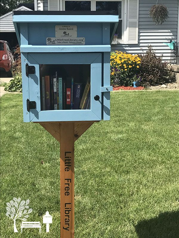 What a beautiful memorial Little Free Library, built from our ...