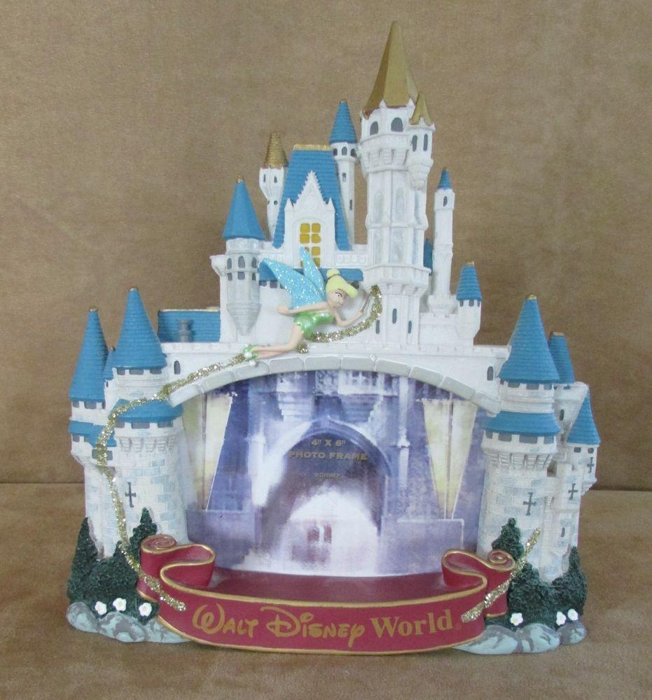 Large Cinderella Castle Picture Frame Park 4x6 Tinkerbell Walt