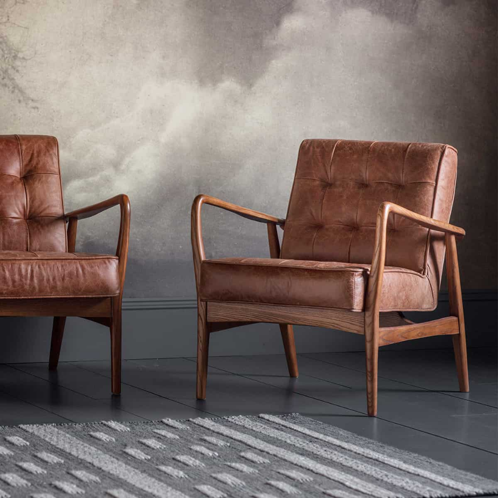 Humber Armchair Vintage Brown Leather In 2020 Brown Leather