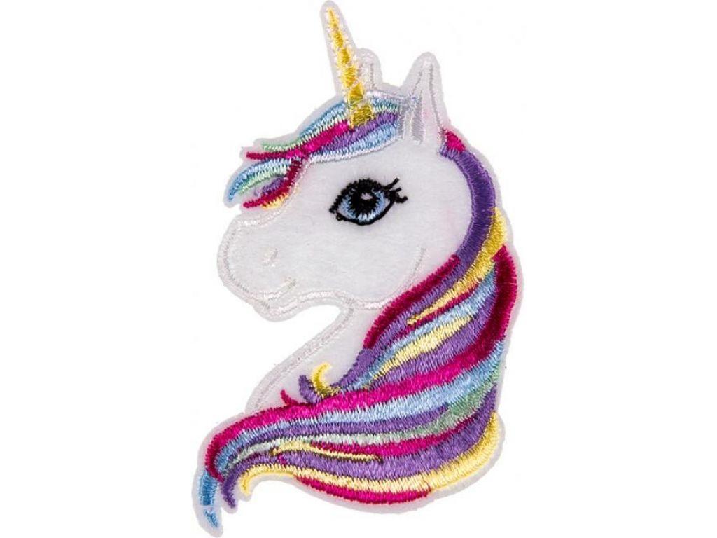 bügelbild unicorn 42x75mm.2,50eur. einfach aufbügeln und