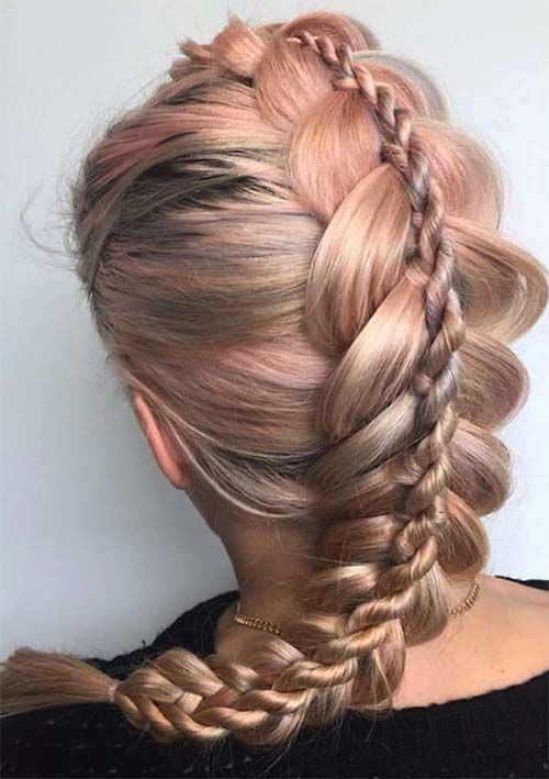 100 Ridiculously Awesome Braided Hairstyles Stacked Dutch Braids Cool Braid Hairstyles Unique Braided Hairstyles Braided Hairstyles