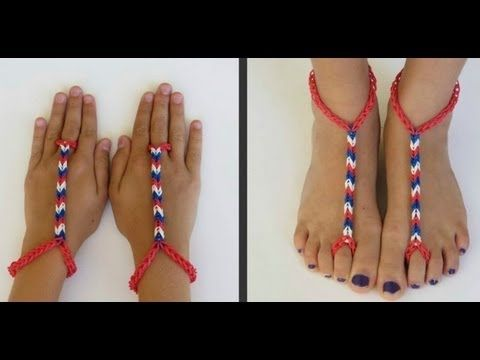 how to make advanced Rainbow Loom Barefoot Sandals DIY tutorial step by step instructions, How to, how to do, diy instructions, crafts, do it yourself, diy website, art project ideas