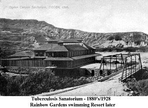 Tb Sanatorium 1880 1928 Rainbow Gardens 1928 To Present Ogden Utah Rainbow Garden Places To Go