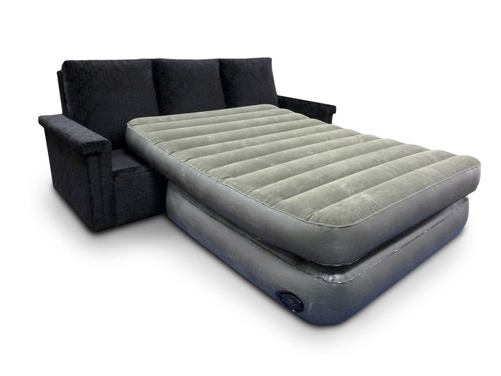 Leather Sofa Image for Air Mattress For Sofa Bed Sleeper Sofa With Air Mattress Mk Outlet Home