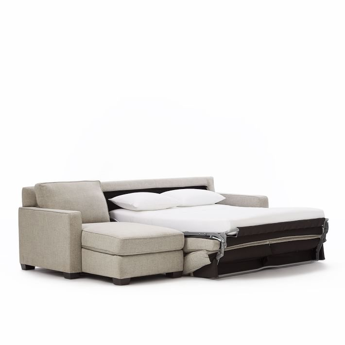 Henry 174 2 Piece Full Sleeper Sectional W Storage In 2020
