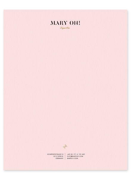 personal letterhead pink paper is super cute too illustration