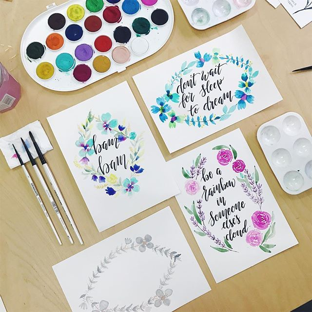 Watercolor Lettering Watercolor Lettering Watercolor Hand