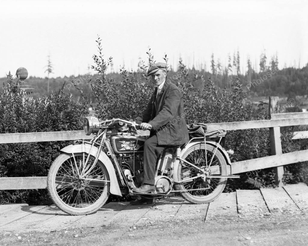 Excelsior Motorcycle 1928 Vintage 8x10 Reprint Of Old Photo | Harley ...