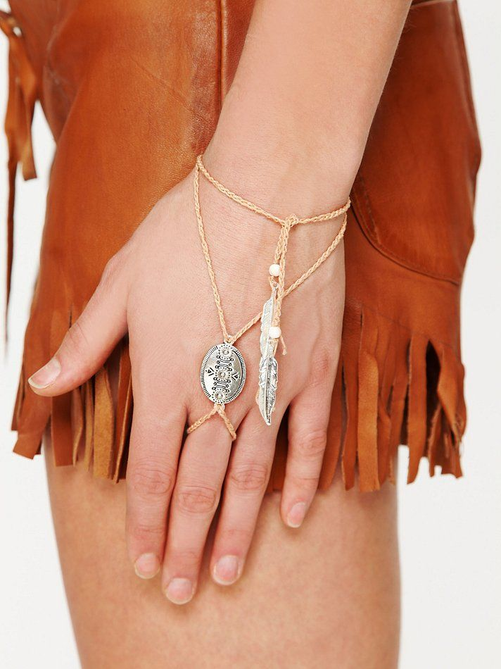 Free People Concho Ring Wrap Bracelet, CUTE! I\'m gonna make one ...