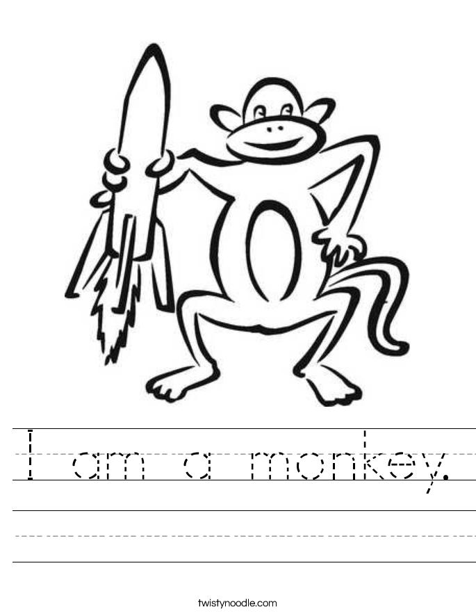 monkey worksheets am a monkey. Worksheet Monkey