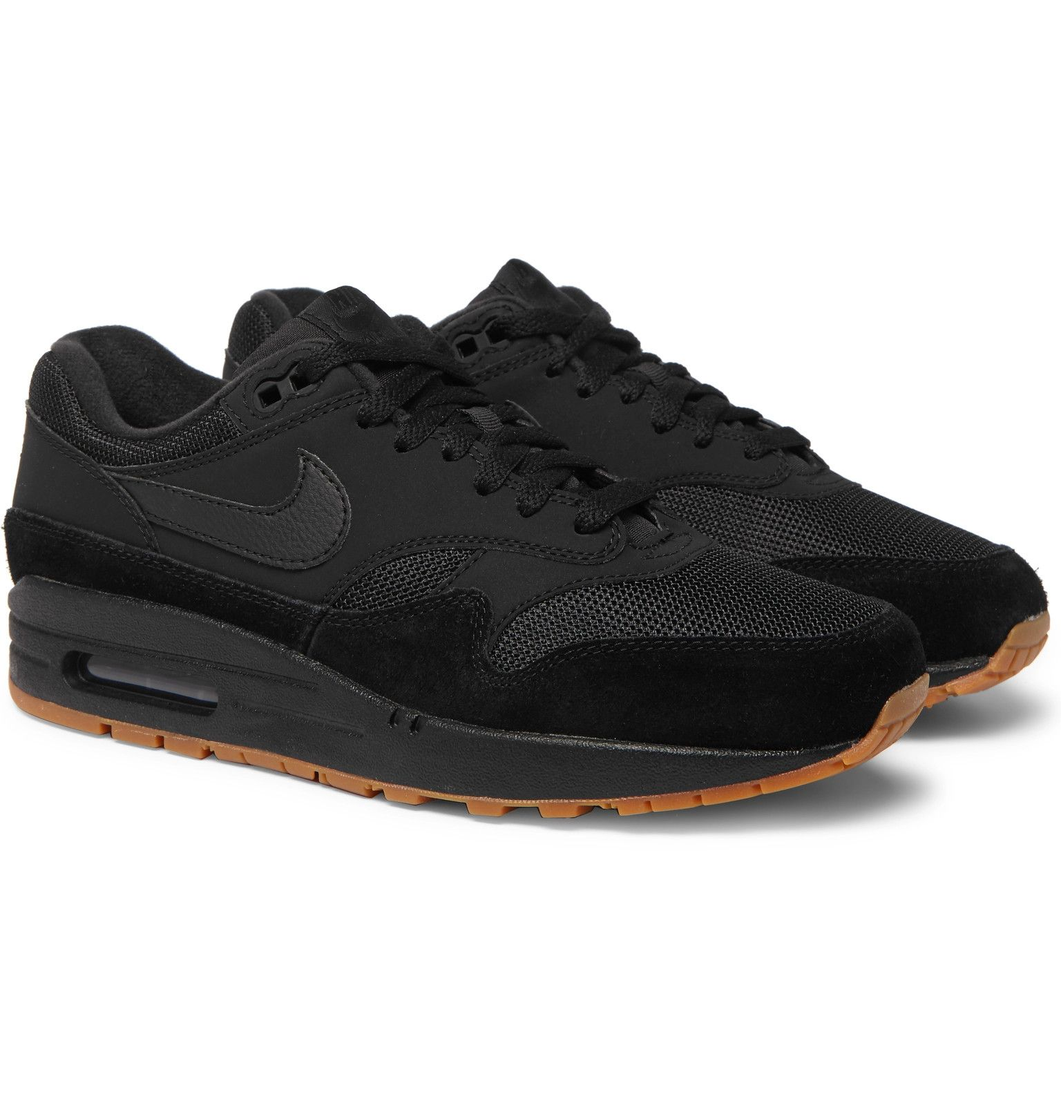 Nike Air Max 1 Premium Suede, Nubuck and Mesh Sneakers
