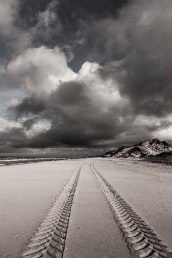 Spor på stranden
