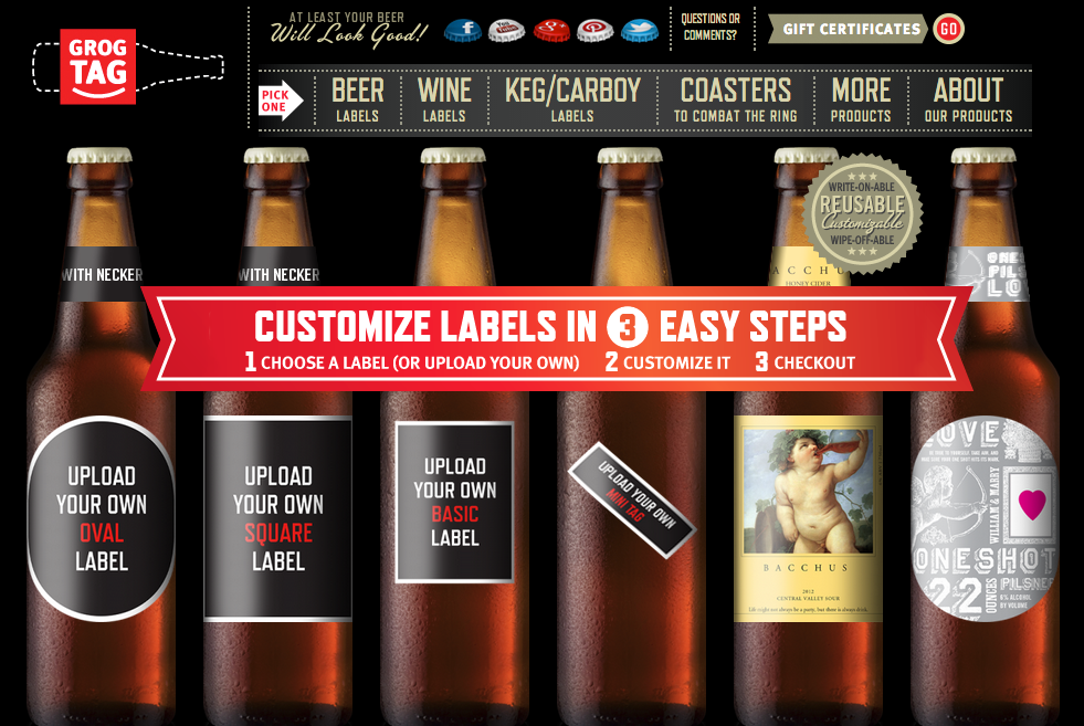 Homebrew Finds: GrogTag: 10% Off 90 Different Styles of Beer Labels