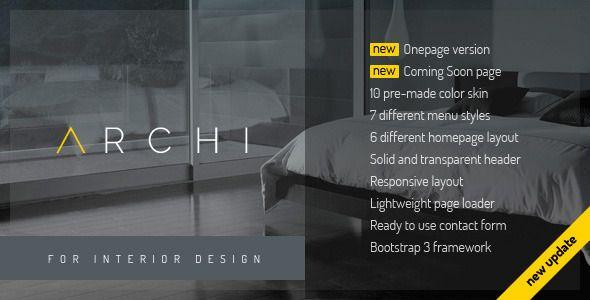 Archi - Interior Design Website Template Corporate identity