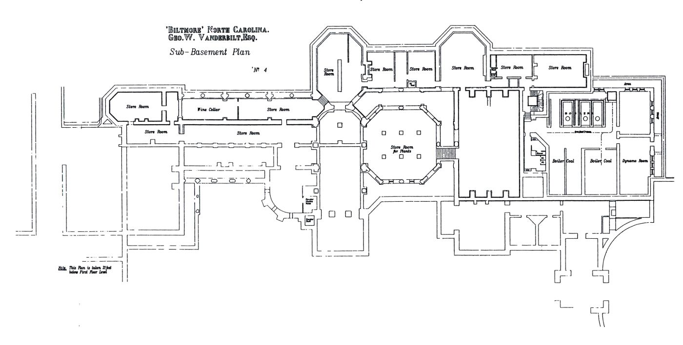 Biltmore house sub basement sub basement floorplan for Biltmore estate floor plan