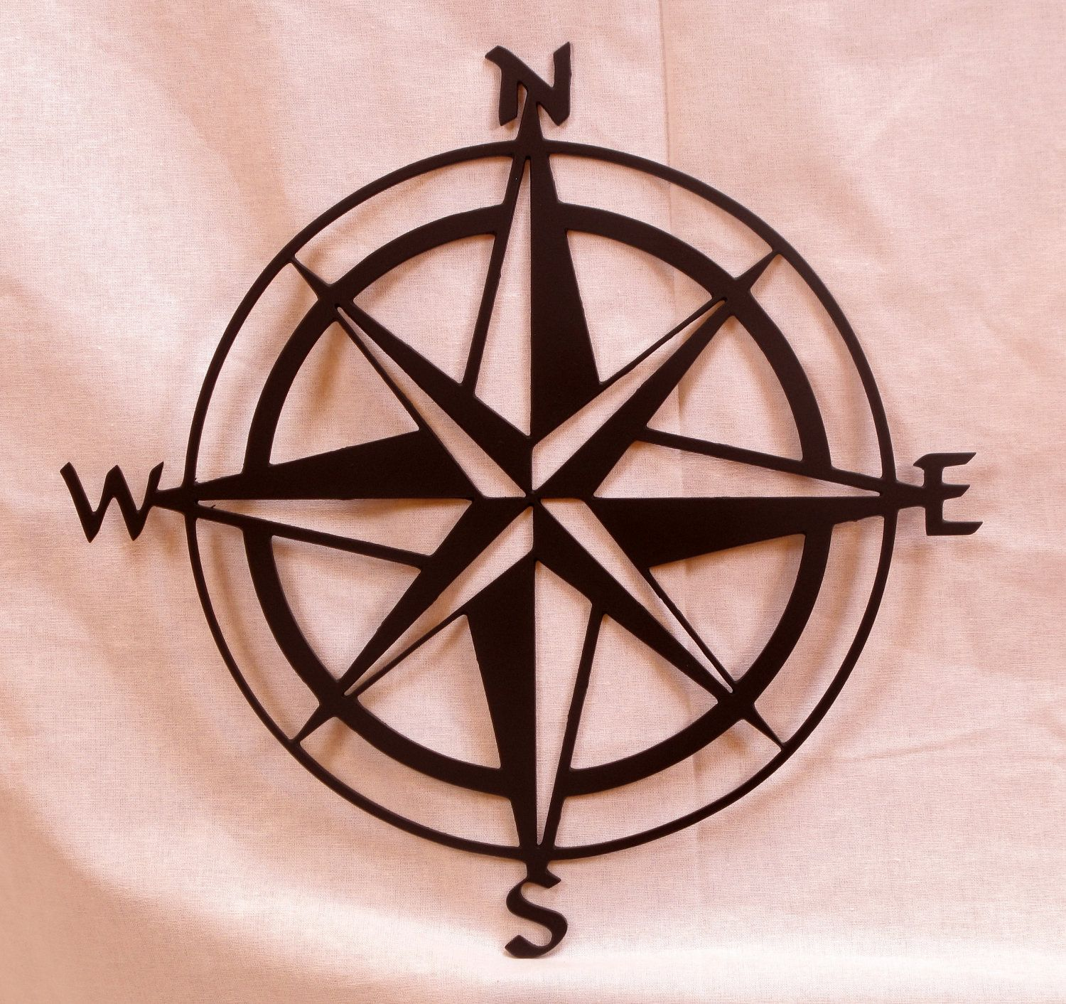 Large 20in Compass Rose Metal Wall Art. 40.00, via Etsy.
