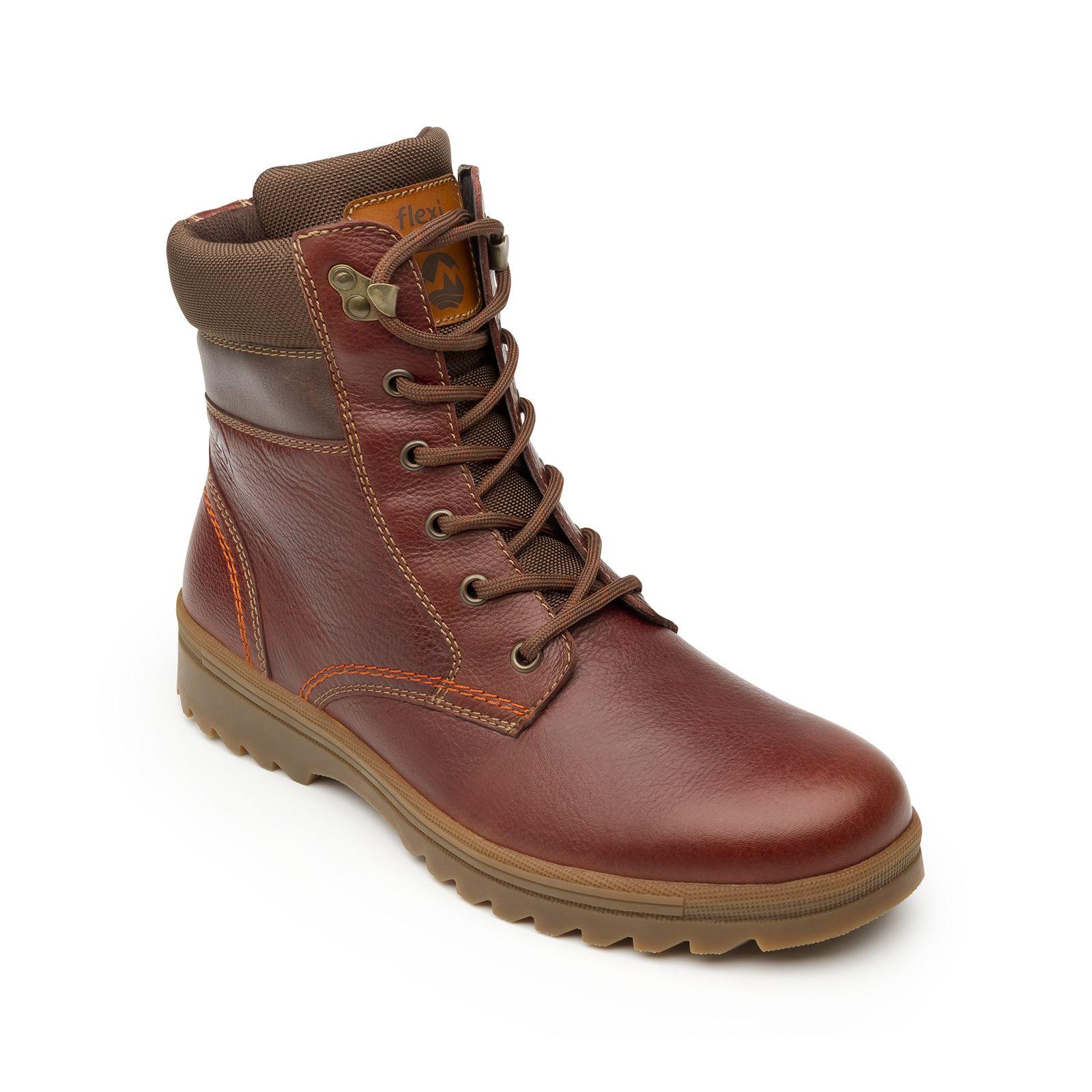 Zapatos marrones estilo militar infantiles rC8MKZ